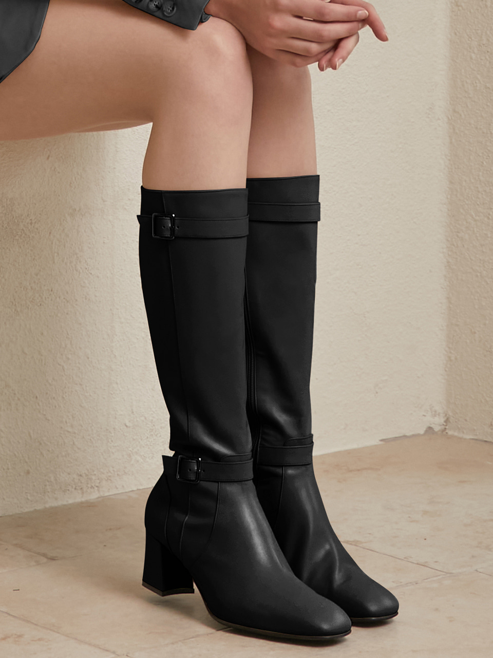 AURORA LONG BOOTS(Black)